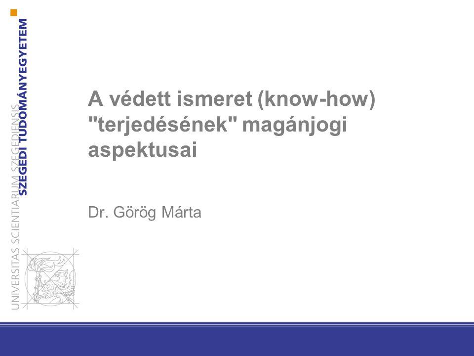 A védett ismeret (know-how)