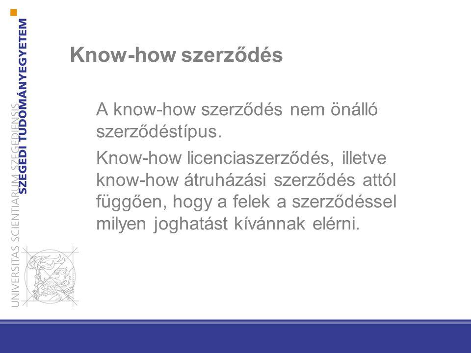 Know-how szerződés A know-how szerződés nem önálló szerződéstípus. Know-how licenciaszerződés, illetve know-how átruházási szerződés attól függően, ho