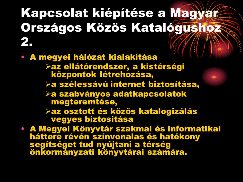 Kapcsolat kiépítése a Magyar Országos Közös Katalógushoz 2.