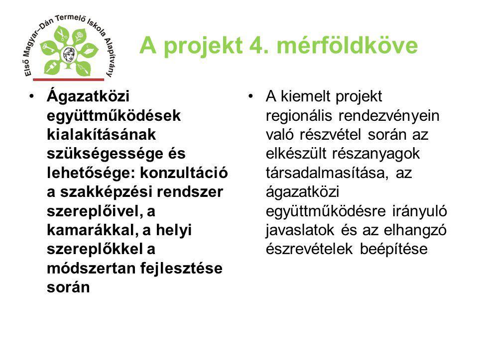 A projekt 4. mérföldköve Ágazatközi együttműködések kialakításának szükségessége és lehetősége: konzultáció a szakképzési rendszer szereplőivel, a kam