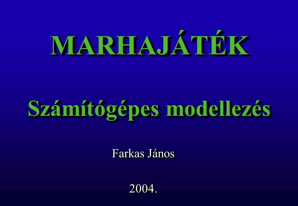 MARHAJÁTÉK Számítógépes modellezés Farkas János 2004. 2004.