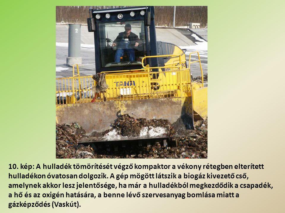 11. kép: A lerakó rézsűjét szennyvíziszappal védik a sérülés ellen (Tokaj).