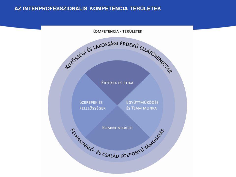 A 16 INTERPROFESSZIONÁLIS KÉPZÉS KÖZÖS CÉLKITŰZÉSEI ÉS VÁRT TANULÁSI EREDMÉNYEK az IP hozadékának megismertetése felhasználó-központú szolgáltatásnyújtás szemléletének megerősítése szerepek azonosítása és értelmezése interprofesszionális szemlélet, etikai hozzáállás és együttműködési kultúra fejlesztése kommunikációs készségek fejlesztése eszközök és technikáka team- munkához Megértés és elköteleződés Helyzetfelismerés és kezdeményezés Egyenlő és kompetens partnerként képesek legyenek a saját szakma képviseletére a team munka keretében