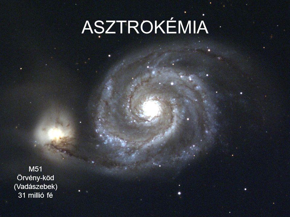 GALAXISOK OSZTÁLYOZÁSA küllős galaxisok elliptikus galaxisok spirálgalaxisok irreguláris galaxisok 2,8% 1,9% 6,0% 3,4% 13,2% 14,2% 8,2% 17,8% 32,5% HUBBLE-FÉLE OSZTÁLYOZÁS