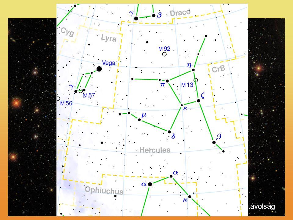 M13 - Herkules több 100.000 *, 145 fé átmérő, 25.000 fé távolság