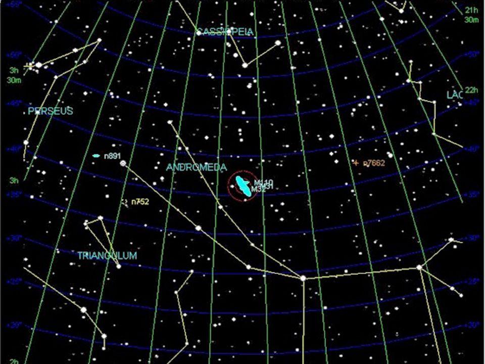 Androméda-galaxis (M31) – 2,25 millió fé = 690 kpc M110 M32