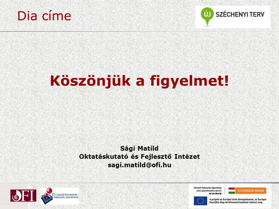 Dia címe Köszönjük a figyelmet! Sági Matild Oktatáskutató és Fejlesztő Intézet sagi.matild@ofi.hu