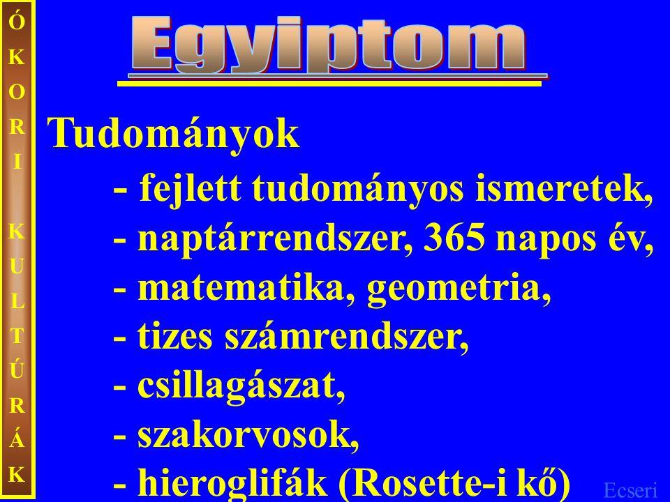 ÓKORIKULTÚRÁKÓKORIKULTÚRÁK A IV.