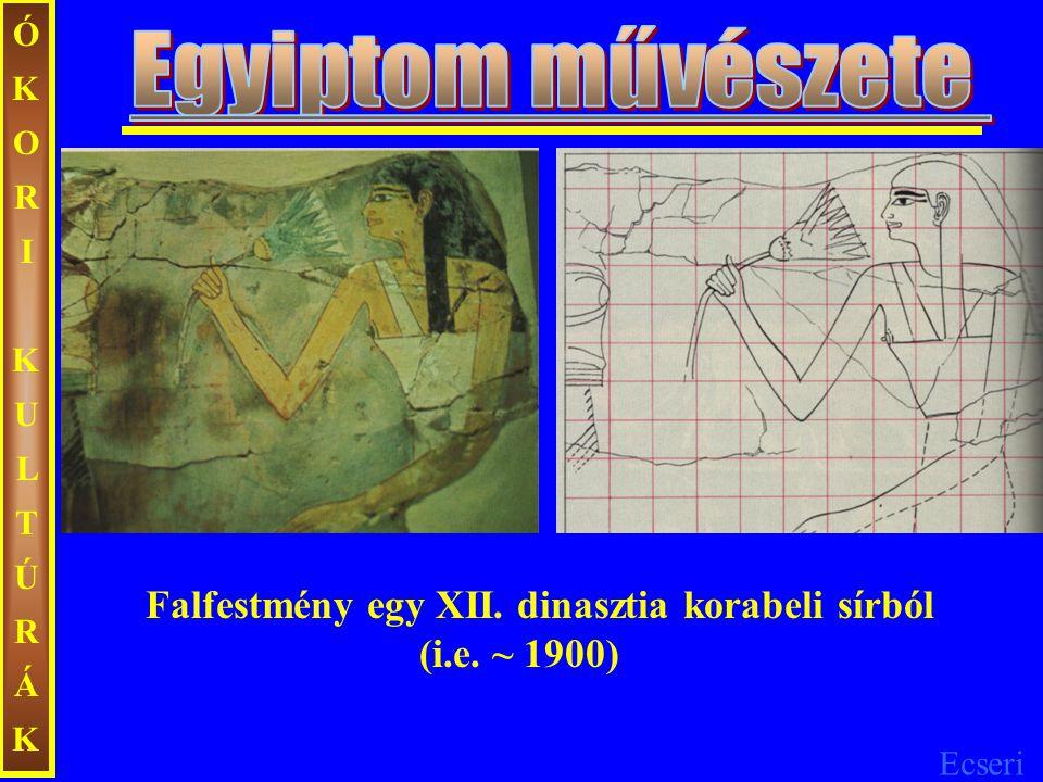 Ecseri ÓKORIKULTÚRÁKÓKORIKULTÚRÁK Falfestmény egy XII. dinasztia korabeli sírból (i.e. ~ 1900)