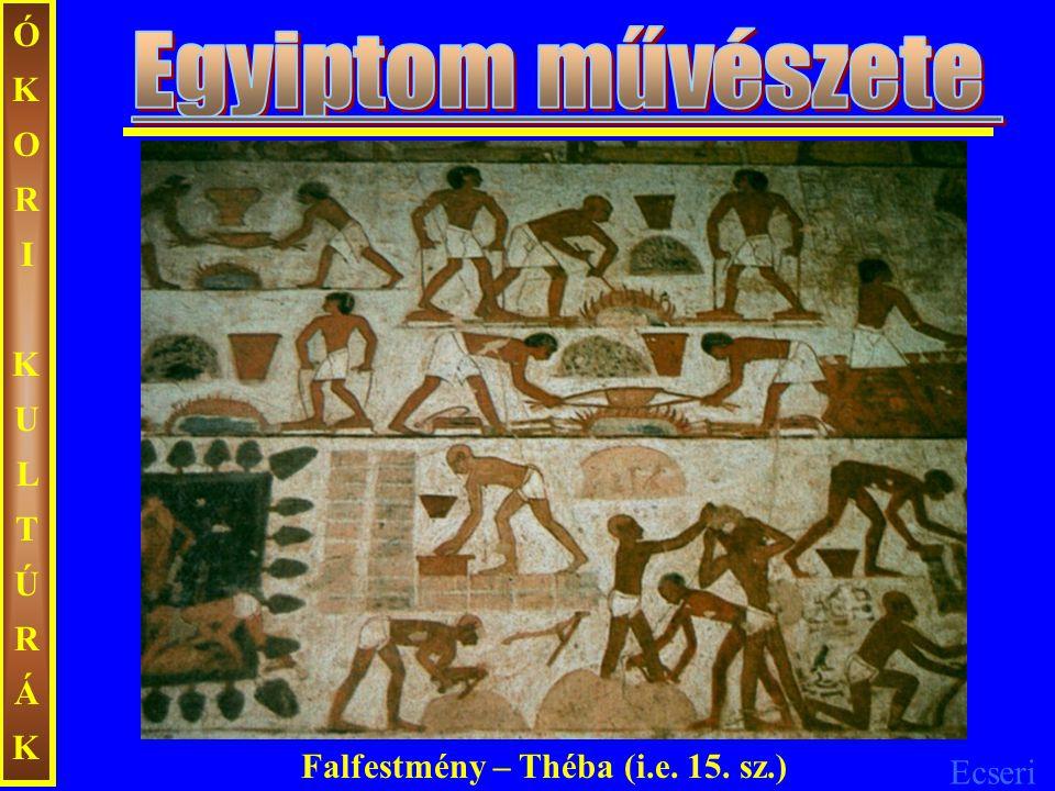 ÓKORIKULTÚRÁKÓKORIKULTÚRÁK Falfestmény – Théba (i.e. 15. sz.)