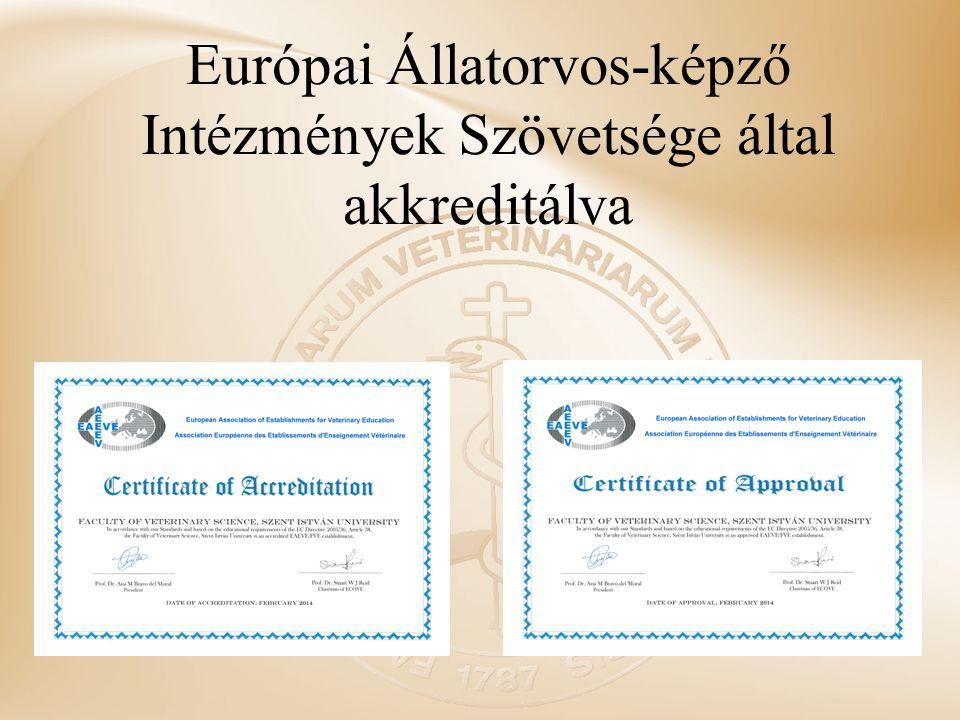Európai Állatorvos-képző Intézmények Szövetsége által akkreditálva