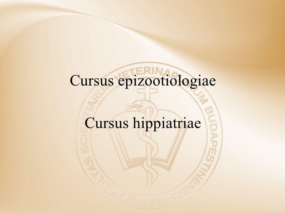 Cursus epizootiologiae Cursus hippiatriae