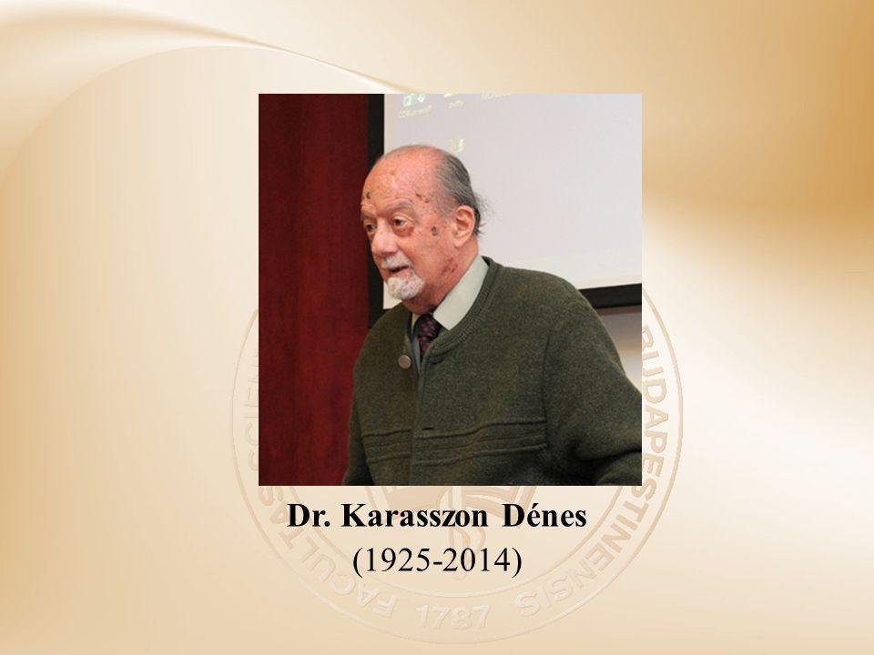 Dr. Karasszon Dénes (1925-2014)
