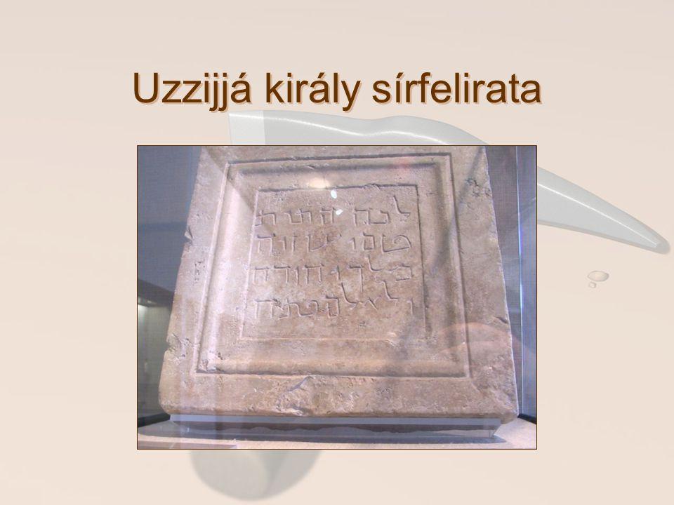 Uzzijjá király sírfelirata