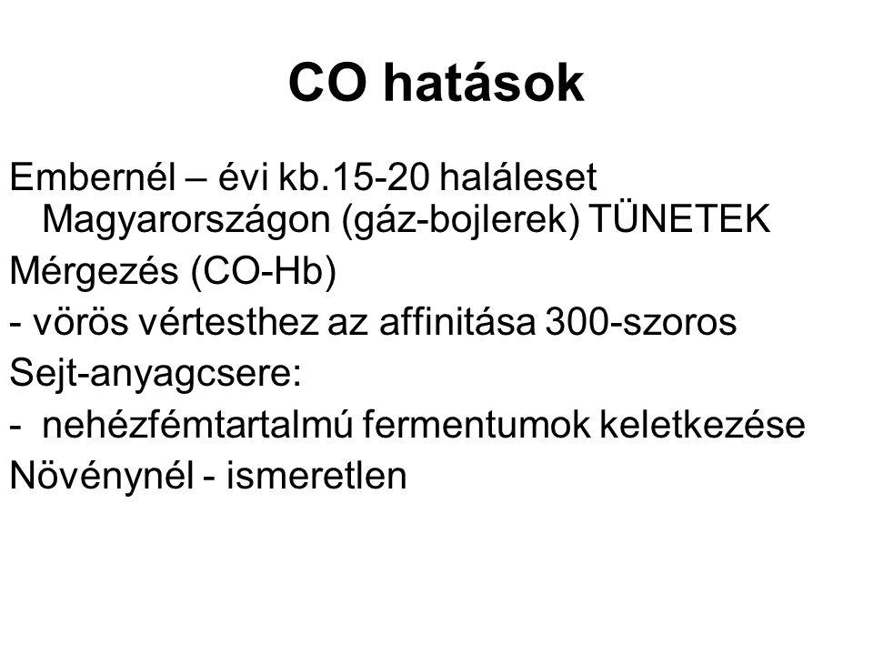Hazai CO kibocsátás KSH Évkönyv (2003) alapján