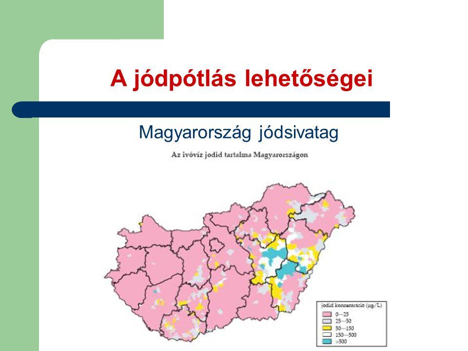 A jódpótlás lehetőségei Magyarország jódsivatag