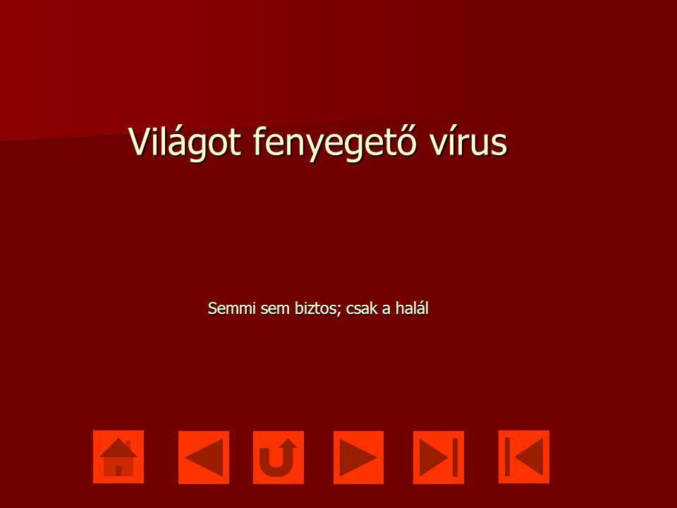 Világot fenyegető vírus Semmi sem biztos; csak a halál