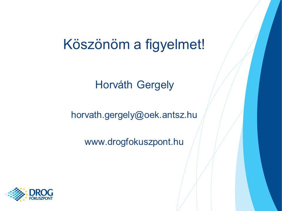 Köszönöm a figyelmet! Horváth Gergely horvath.gergely@oek.antsz.hu www.drogfokuszpont.hu