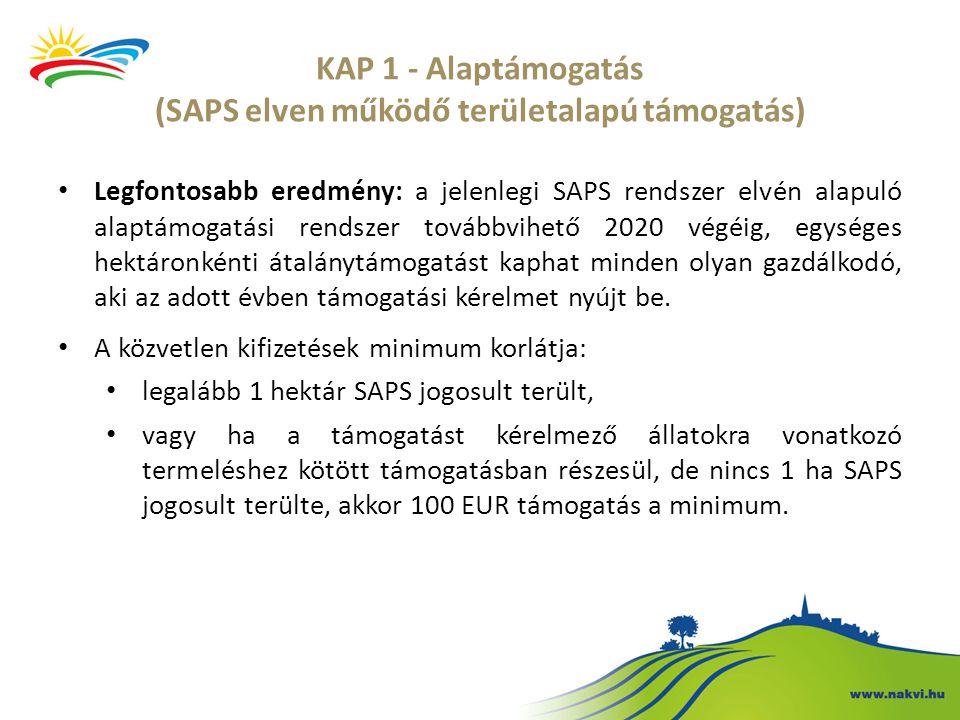 Legfontosabb eredmény: a jelenlegi SAPS rendszer elvén alapuló alaptámogatási rendszer továbbvihető 2020 végéig, egységes hektáronkénti átalánytámogat