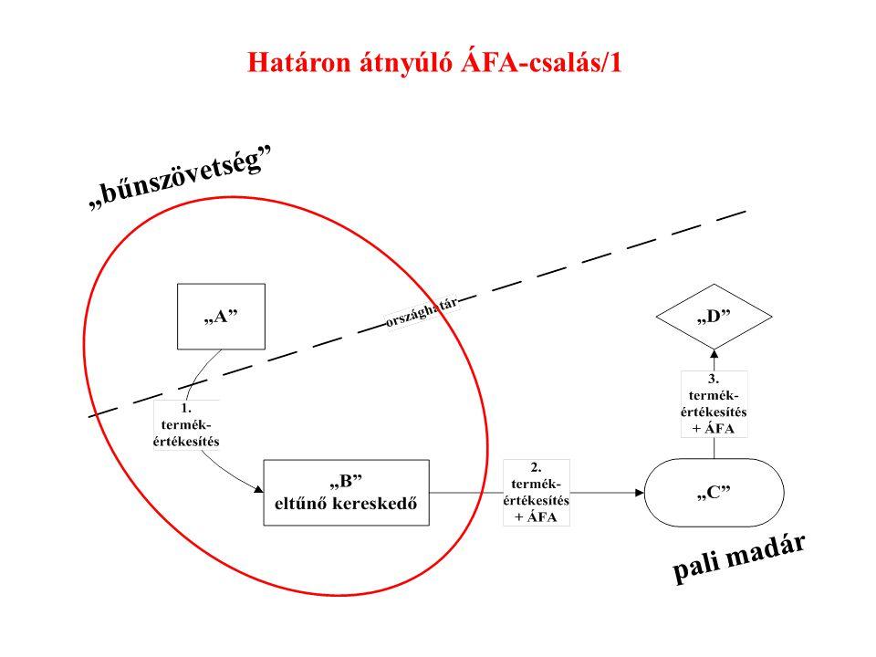 """Határon átnyúló ÁFA-csalás/1 """"bűnszövetség"""" pali madár"""