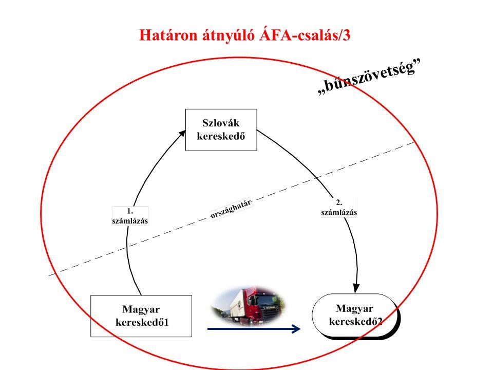 """Határon átnyúló ÁFA-csalás/3 """"bűnszövetség"""""""