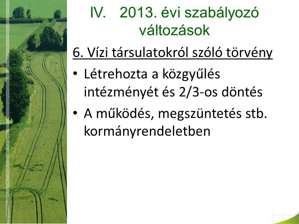 IV.2013. évi szabályozó változások 6.
