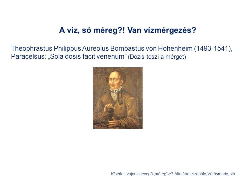 """A víz, só méreg?! Van vízmérgezés? Theophrastus Philippus Aureolus Bombastus von Hohenheim (1493-1541), Paracelsus: """"Sola dosis facit venenum"""" (Dózis"""