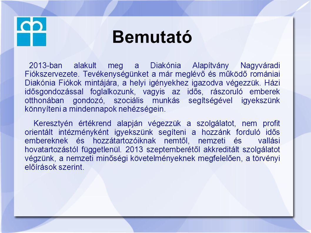 Bemutató 2013-ban alakult meg a Diakónia Alapítvány Nagyváradi Fiókszervezete. Tevékenységünket a már meglévő és működő romániai Diakónia Fiókok mintá