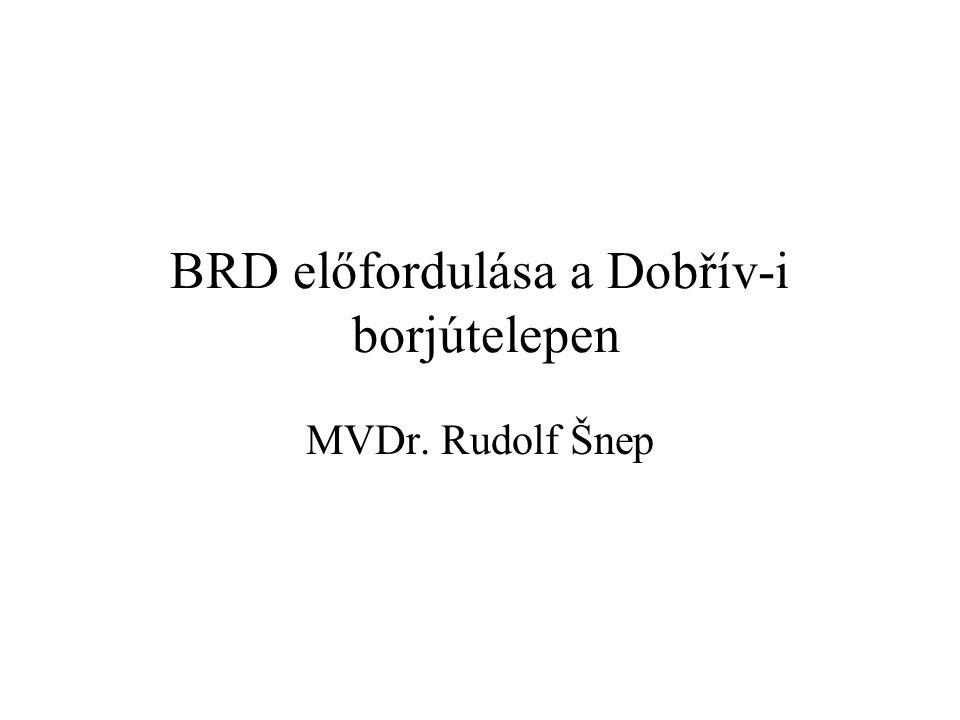 BRD előfordulása a Dobřív-i borjútelepen MVDr. Rudolf Šnep