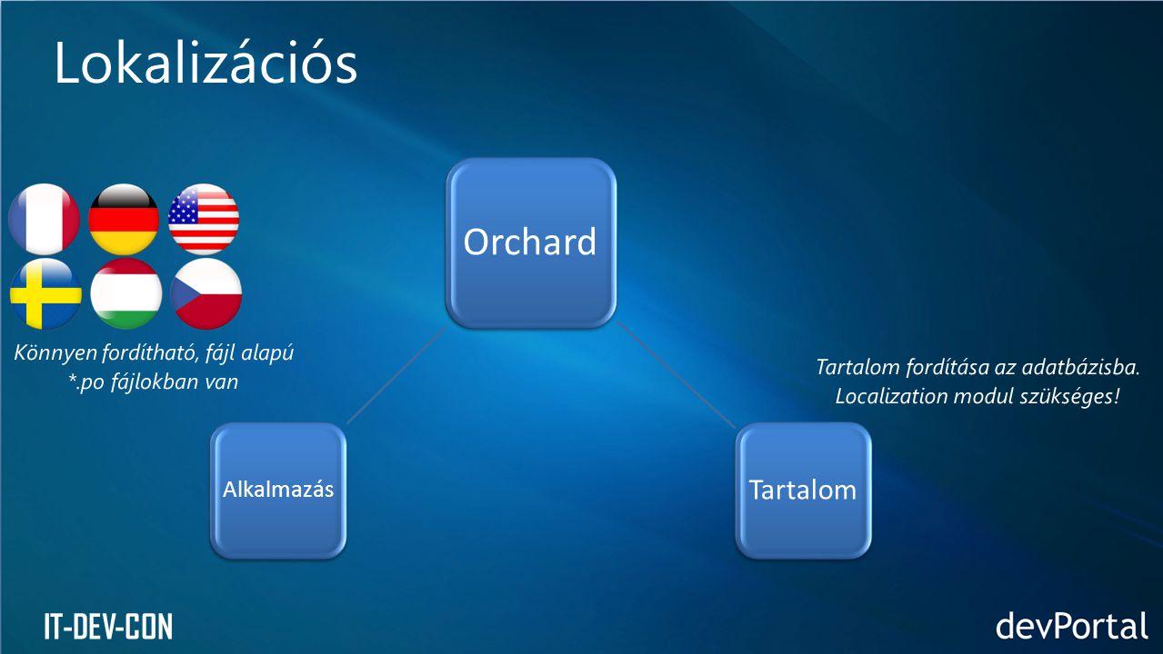 IT-DEV-CON Lokalizációs Orchard Tartalom Alkalmazás