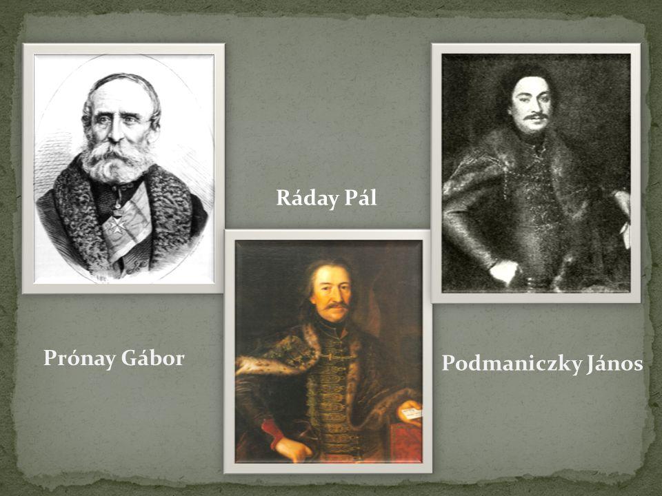 Prónay Gábor Ráday Pál Podmaniczky János