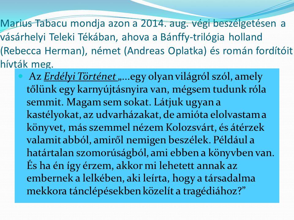 Marius Tabacu mondja azon a 2014.aug.