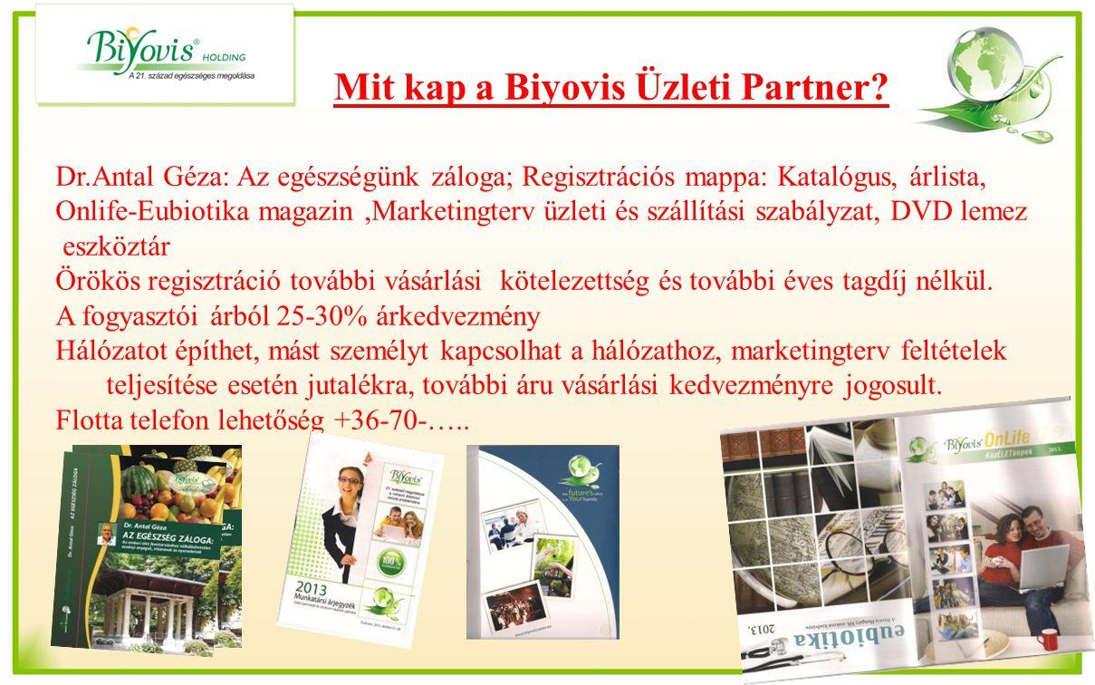 Dr.Antal Géza: Az egészségünk záloga; Regisztrációs mappa: Katalógus, árlista, Onlife-Eubiotika magazin,Marketingterv üzleti és szállítási szabályzat,