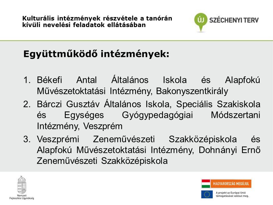 Együttműködő intézmények: 4.Hriszto Botev Általános Iskola, Veszprém 5.