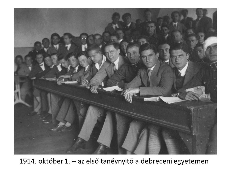 Professzori Kar a Debreceni Egyetem alapítása utáni évekből