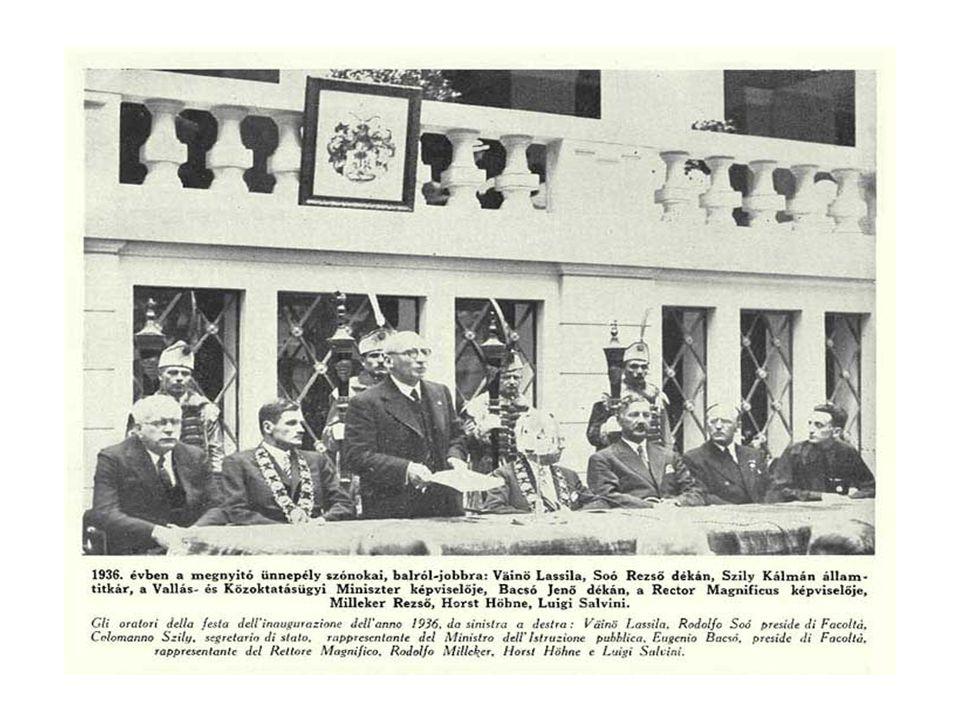 Milleker Rezső tisztségei 1935/36 tanév Dr.