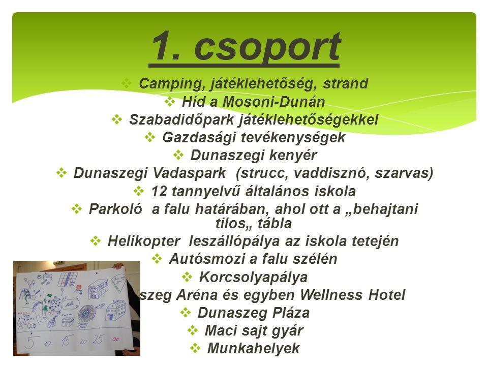  Camping, játéklehetőség, strand  Híd a Mosoni-Dunán  Szabadidőpark játéklehetőségekkel  Gazdasági tevékenységek  Dunaszegi kenyér  Dunaszegi Va