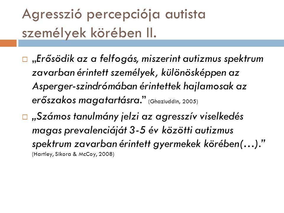 """Agresszió percepciója autista személyek körében II.  """"Erősödik az a felfogás, miszerint autizmus spektrum zavarban érintett személyek, különösképpen"""