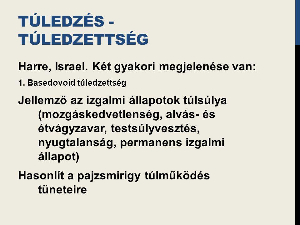 TÚLEDZÉS - TÚLEDZETTSÉG Harre, Israel.Két gyakori megjelenése van: 1.