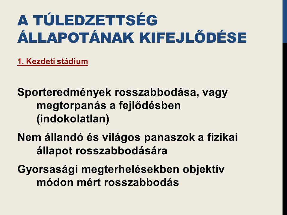 A TÚLEDZETTSÉG ÁLLAPOTÁNAK KIFEJLŐDÉSE 1.