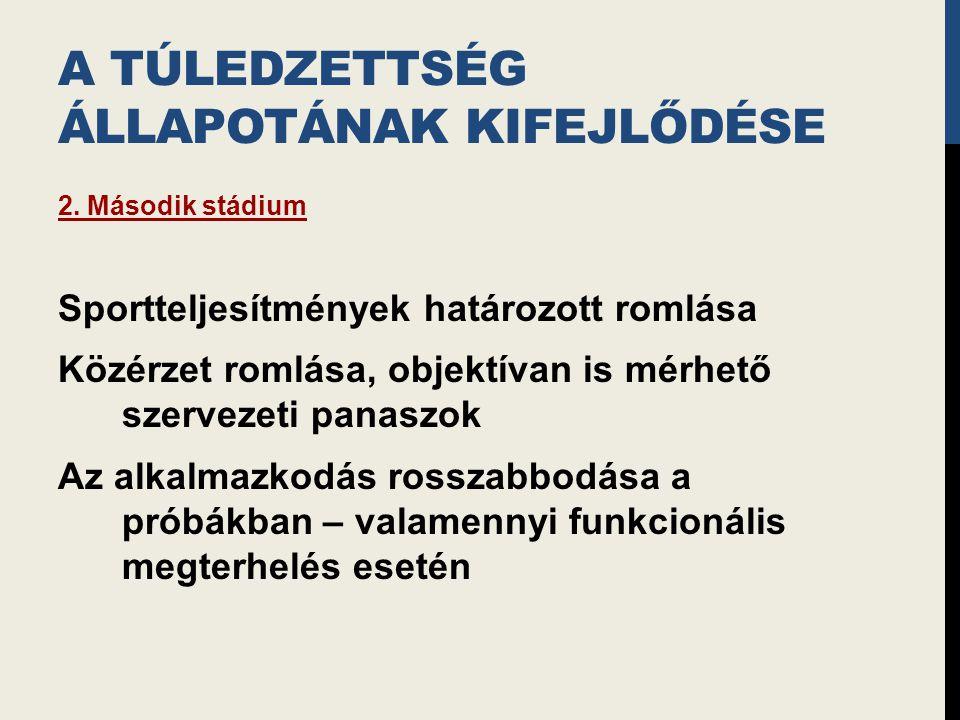 A TÚLEDZETTSÉG ÁLLAPOTÁNAK KIFEJLŐDÉSE 2.