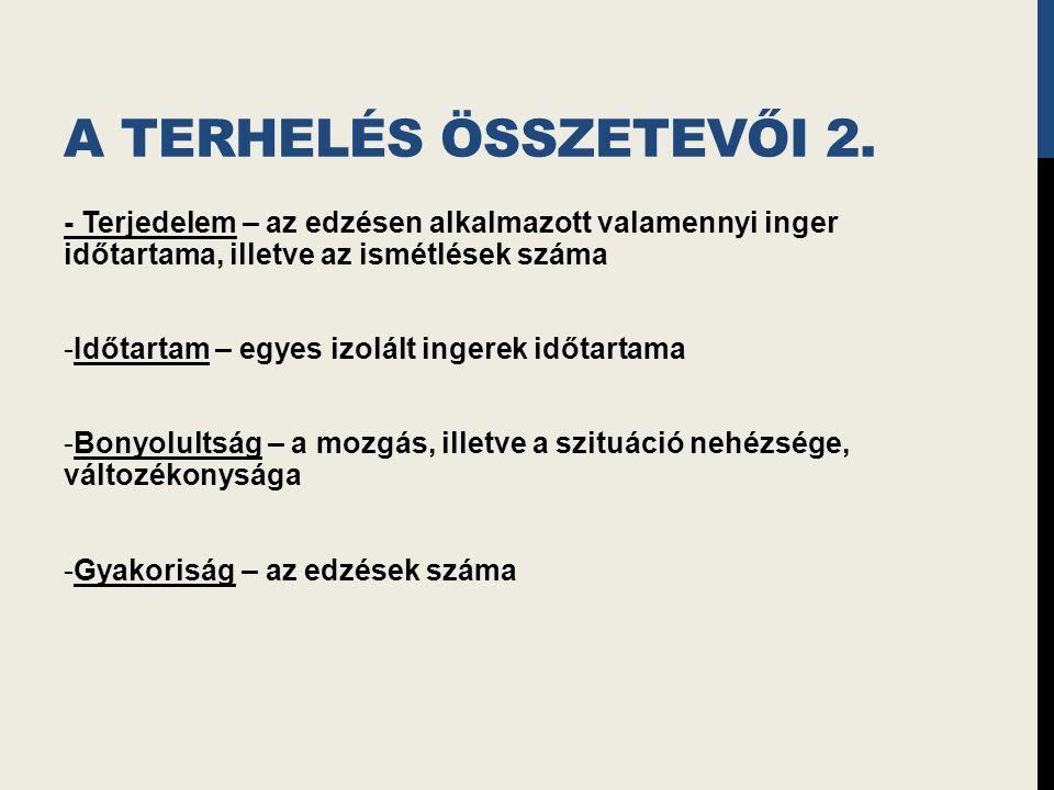 A TERHELÉS ÖSSZETEVŐI 2.