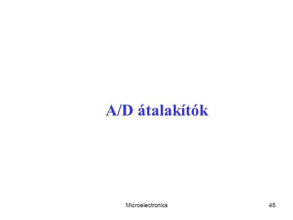 Microelectronics45 A/D átalakítók