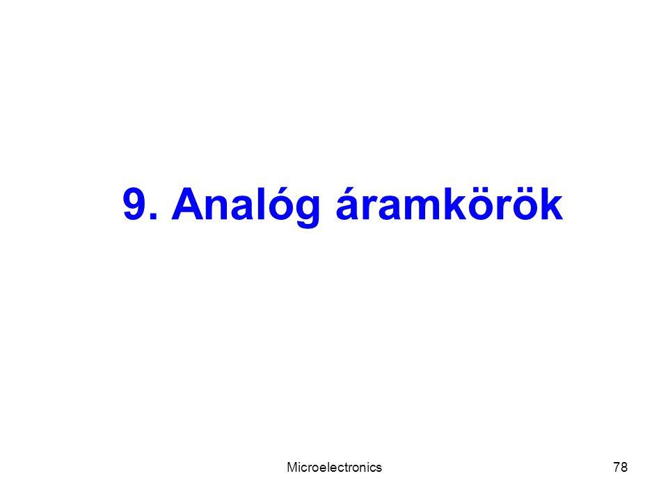 Microelectronics78 9. Analóg áramkörök