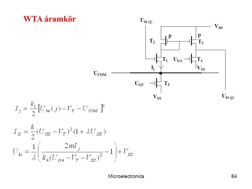 Microelectronics84 U G4 V dd U in (j) T1T1 V SS IjIj U COM U ki (j) p T2T2 T3T3 T4T4 V SS p T5T5 U G5 WTA áramkör