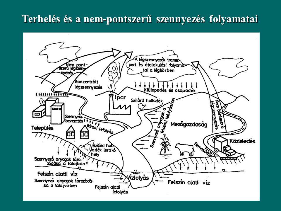 Terhelés és a nem-pontszerű szennyezés folyamatai