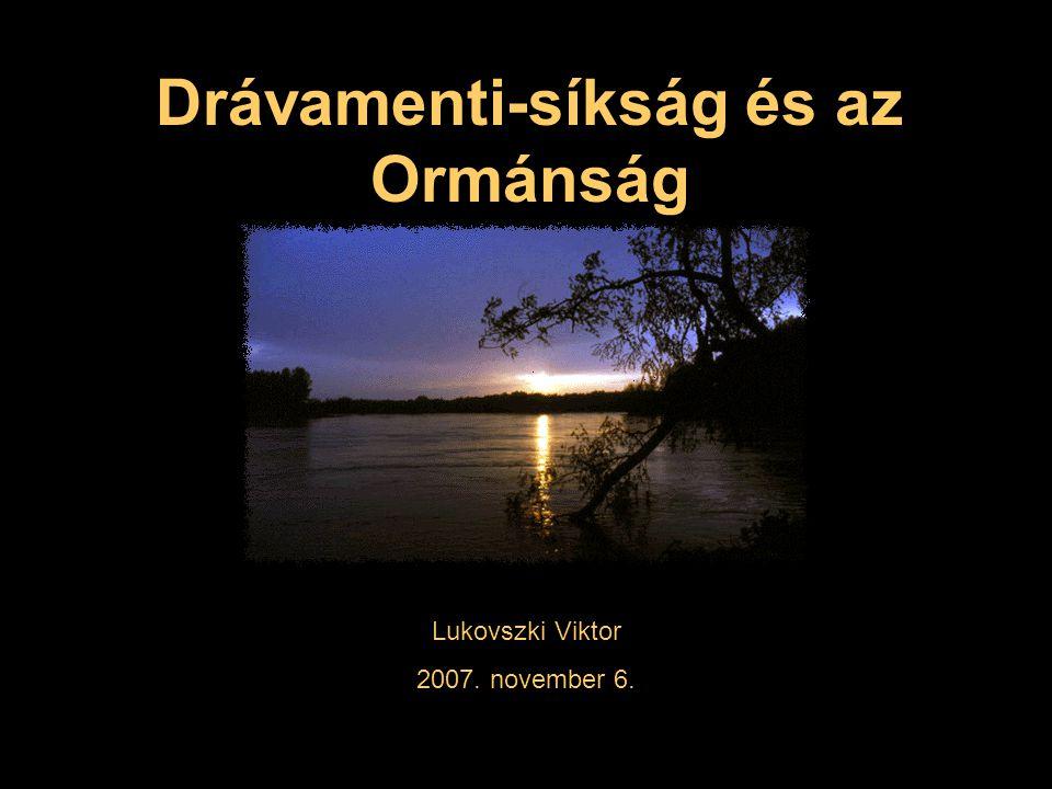 Drávamenti-síkság és az Ormánság Lukovszki Viktor 2007. november 6.