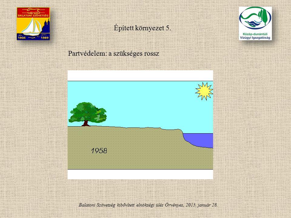 Balatoni Szövetség kibővített elnökségi ülés Örvényes, 2015. január 28. Épített környezet 5. Partvédelem: a szükséges rossz
