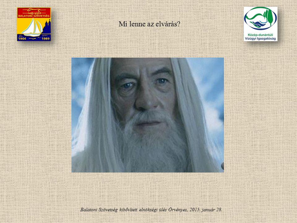 Balatoni Szövetség kibővített elnökségi ülés Örvényes, 2015. január 28. Mi lenne az elvárás?
