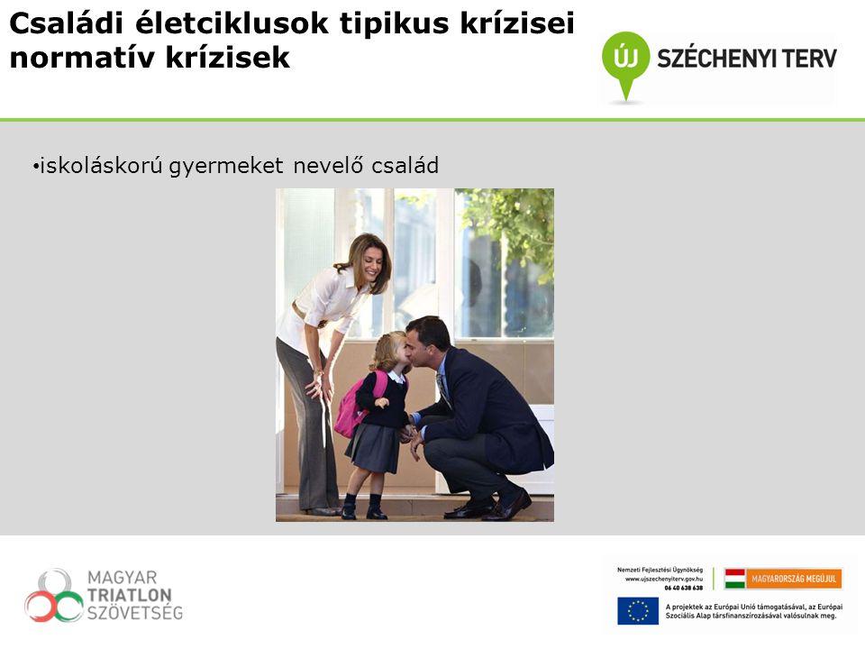 Családi életciklusok tipikus krízisei normatív krízisek iskoláskorú gyermeket nevelő család